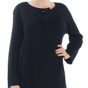 ALFANI Womens Black Cardigan Sweatercoat S